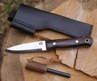 A. Wright & Son 701 Rosewood Handled Bushcraft Knife with TBS Firesteel